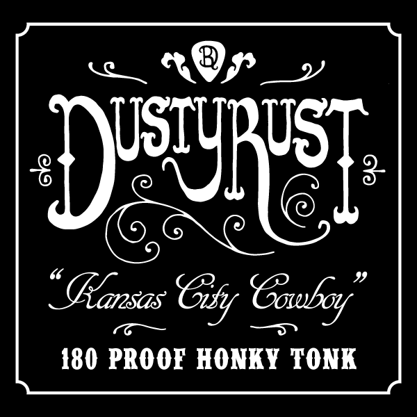 Dusty Rust whiskey label design
