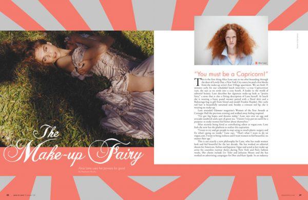 Alice Lane artist profile article magazine cover spread