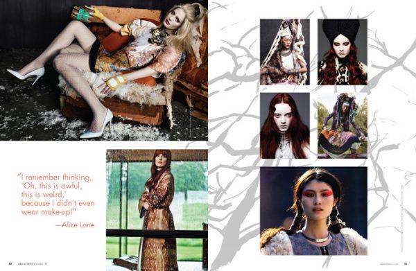 Alice Lane artist profile article magazine spread
