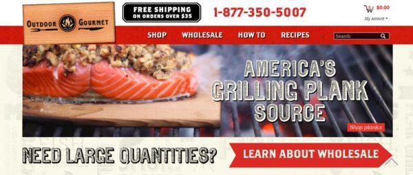 Outdoor Gourmet web banner mockup
