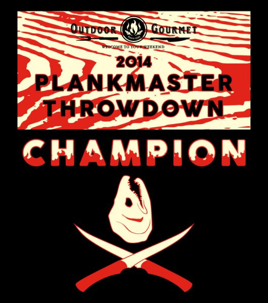 Plankmaster Throwdown 2014 shirt, back side