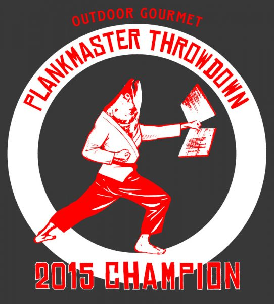 Plankmaster Throwdown 2015 shirt, back side design