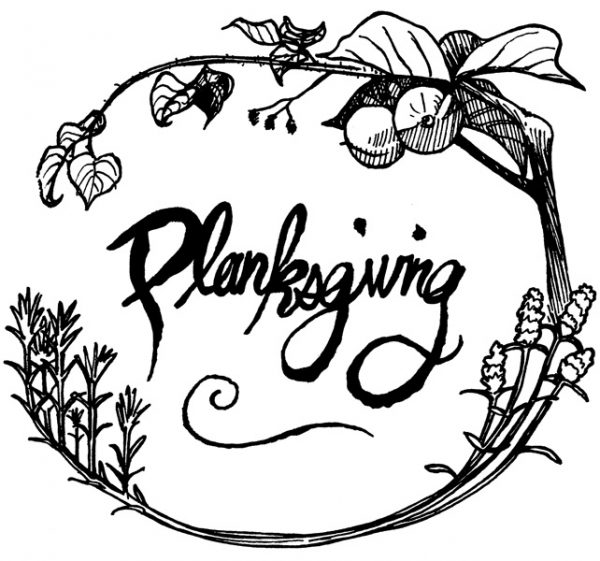 Planksgiving holiday card design