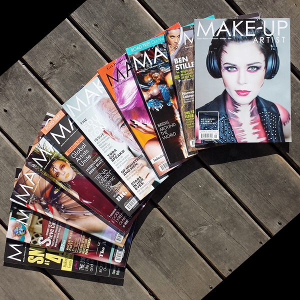 Make-up Artist Magazine covers