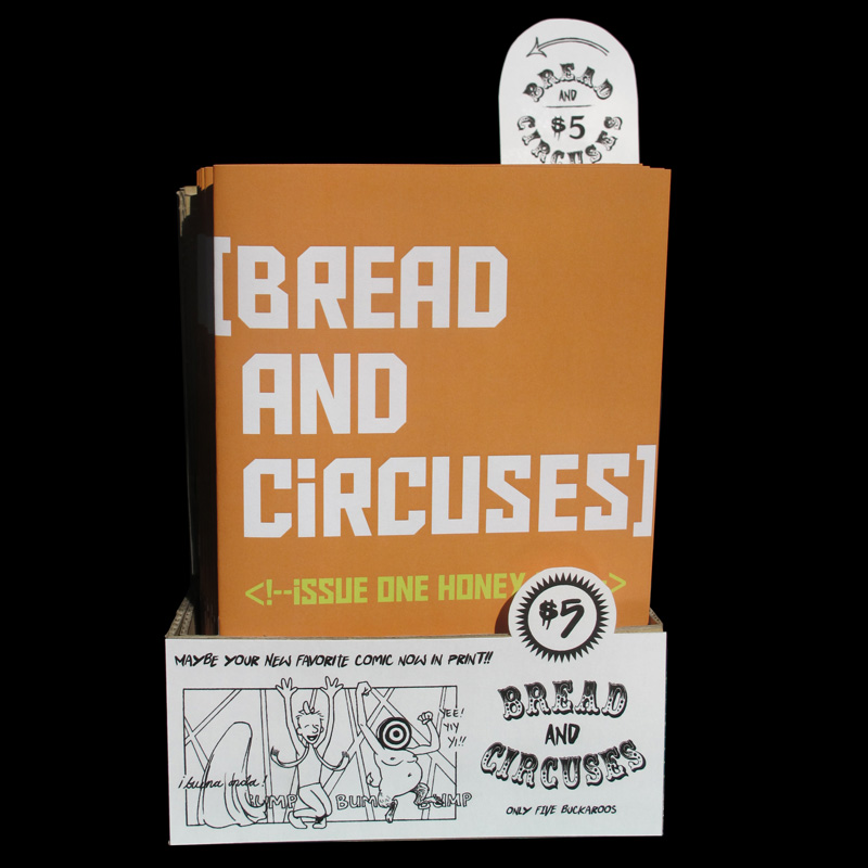 """Bread and Circuses"" comic dispenser"