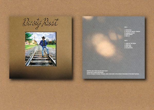 Dusty Rust album cover, front and back side