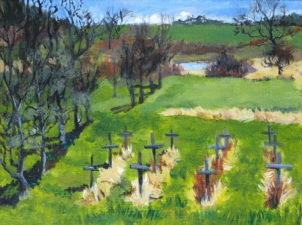 """A Place to Grow"", acrylic, 9""x12"", 2009"