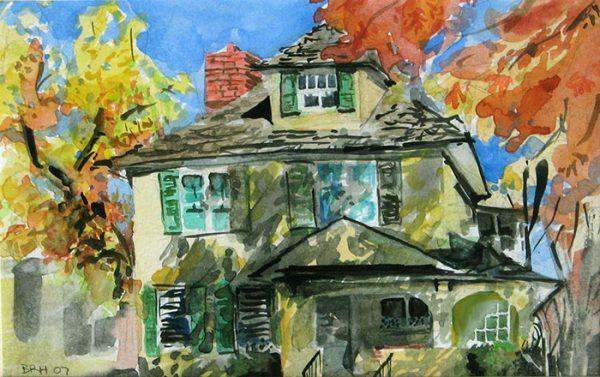 """""""C Springs"""", watercolor, 5""""x8"""", 2007"""
