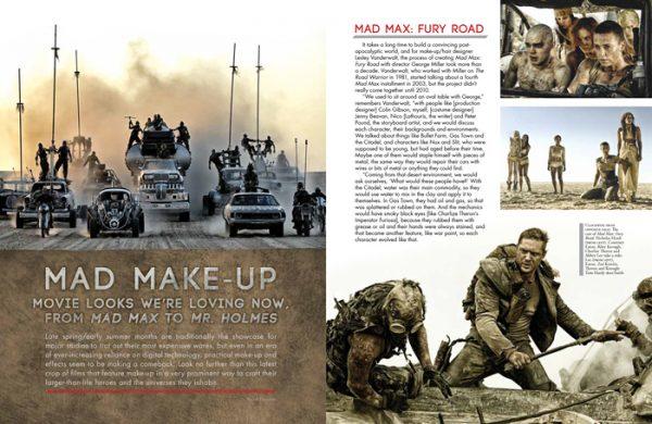 Movies article magazine cover spread