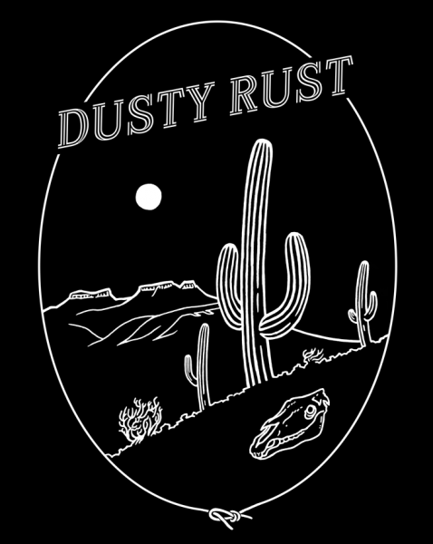 Dusty Rust T shirt design
